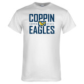White T Shirt-Coppin Eagles Stacked