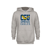 Youth Grey Fleece Hood-CSU Coppin State Eagles