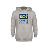 Youth Grey Fleece Hood-CSU Coppin State Athletics