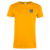 Ladies Gold T Shirt-CSU Coppin State Eagles