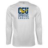 Performance White Longsleeve Shirt-CSU Coppin State Eagles