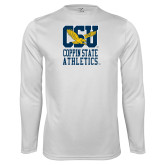 Performance White Longsleeve Shirt-CSU Coppin State Athletics