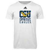 Adidas Climalite White Ultimate Performance Tee-CSU Coppin State Eagles