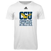Adidas Climalite White Ultimate Performance Tee-CSU Coppin State Athletics