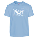 Youth Light Blue T Shirt-Official Logo