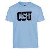 Youth Light Blue T Shirt-Official Logo Foil