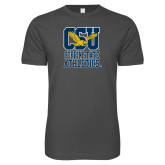 Next Level SoftStyle Charcoal T Shirt-CSU Coppin State Athletics