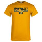 Gold T Shirt-Coppin State University Softball Stencil