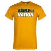 Gold T Shirt-Eagle Nation