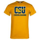 Gold T Shirt-Cheerleading