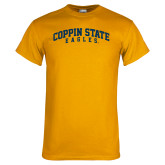 Gold T Shirt-Arched Coppin State Eagles