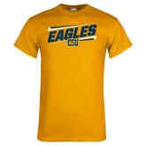 Gold T Shirt-Slanted Eagles w/ Logo