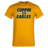Gold T Shirt-Coppin Eagles Stacked w/ Stripes