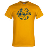 Gold T Shirt-Eagles Basketball Split Lined Ball