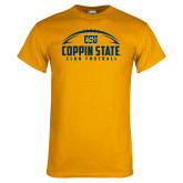 Gold T Shirt-Coppin State Club Football w/ Football