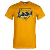 Gold T Shirt-Eagles Baseball Plate w/ Script