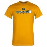Gold T Shirt-Coppin State Baseball Flying Ball