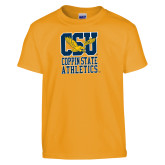 Youth Gold T Shirt-CSU Coppin State Athletics