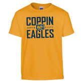 Youth Gold T Shirt-Coppin Eagles Stacked
