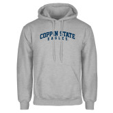 Grey Fleece Hoodie-Arched Coppin State Eagles