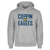 Grey Fleece Hoodie-Coppin Eagles Stacked