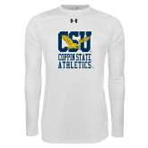 Under Armour White Long Sleeve Tech Tee-CSU Coppin State Athletics