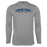 Performance Steel Longsleeve Shirt-Arched Coppin State Eagles