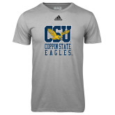 Adidas Climalite Sport Grey Ultimate Performance Tee-CSU Coppin State Eagles