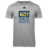 Adidas Climalite Sport Grey Ultimate Performance Tee-CSU Coppin State Athletics