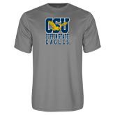 Performance Grey Concrete Tee-CSU Coppin State Eagles