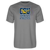 Performance Grey Concrete Tee-CSU Coppin State Athletics