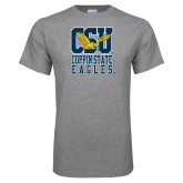 Grey T Shirt-CSU Coppin State Eagles