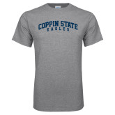Grey T Shirt-Arched Coppin State Eagles
