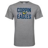 Grey T Shirt-Coppin Eagles Stacked