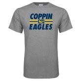 Grey T Shirt-Coppin Eagles Stacked w/ Stripes