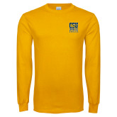 Gold Long Sleeve T Shirt-CSU Coppin State Eagles