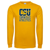 Gold Long Sleeve T Shirt-CSU Coppin State Athletics