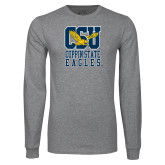 Grey Long Sleeve T Shirt-CSU Coppin State Eagles