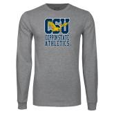Grey Long Sleeve T Shirt-CSU Coppin State Athletics
