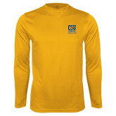 Performance Gold Longsleeve Shirt-CSU Coppin State Eagles