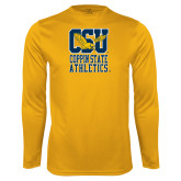 Performance Gold Longsleeve Shirt-CSU Coppin State Athletics