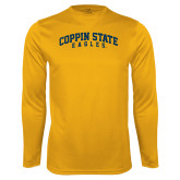 Performance Gold Longsleeve Shirt-Arched Coppin State Eagles