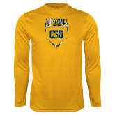 Performance Gold Longsleeve Shirt-Softball Plate