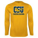 Performance Gold Longsleeve Shirt-Cheerleading