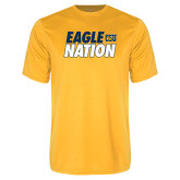 Performance Gold Tee-Eagle Nation