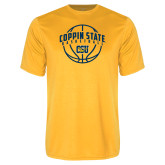 Performance Gold Tee-Coppin State Basketball Arched w/ Ball