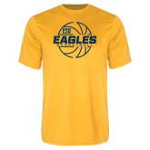 Performance Gold Tee-Eagles Basketball Split Lined Ball