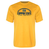 Performance Gold Tee-Coppin State Club Football w/ Football