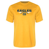 Performance Gold Tee-Eagles Club Football Stacked