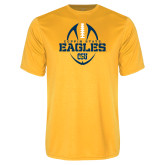 Performance Gold Tee-Coppin State Eagles Football Vertical